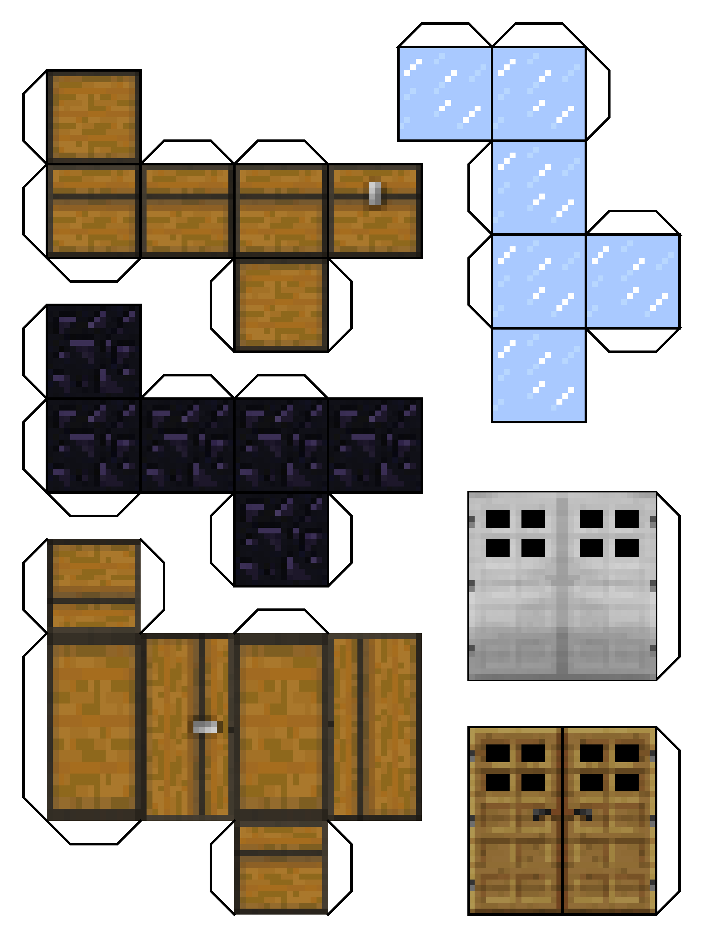 Minecraft Papercraft Blocks Print 2250 x 3000 · 65 kB · png